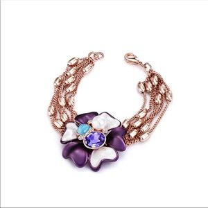 Jewelry - Rose Gold Flower Charm Bracelet